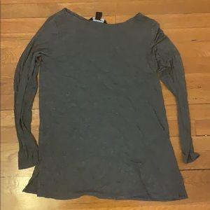 AA gray tunic side slits M